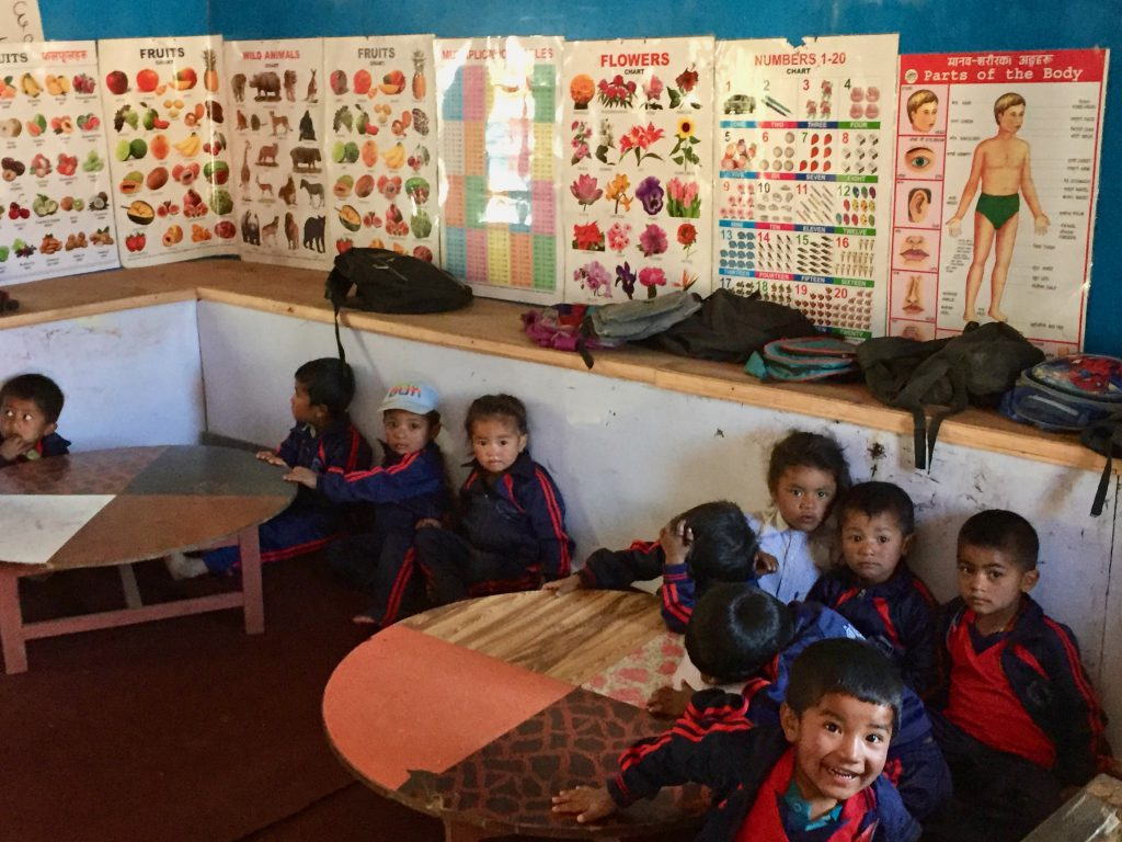 Interior of Deurali Primary School
