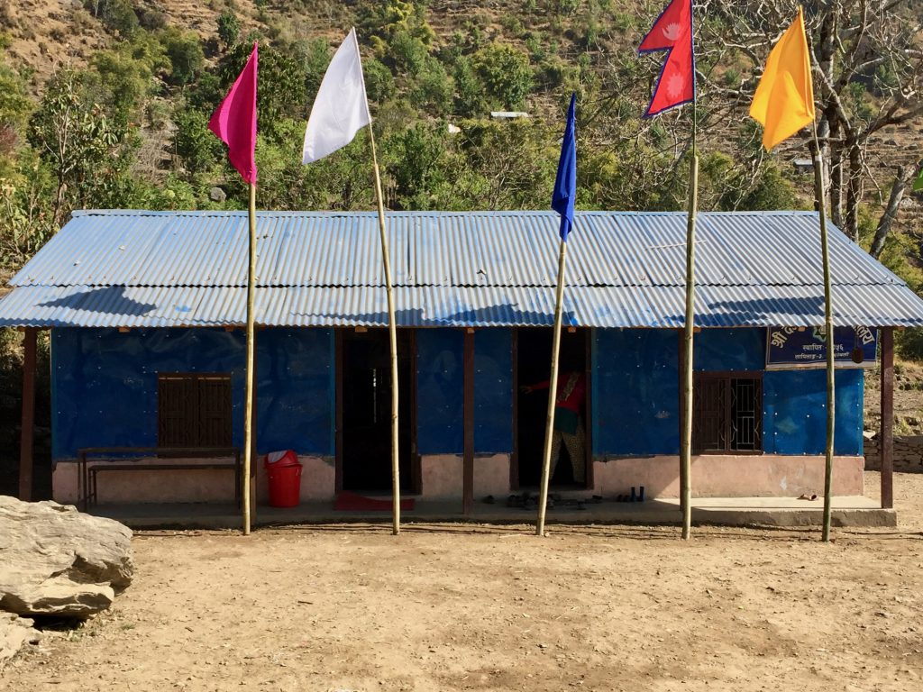 Exterior of Deurali Primary School