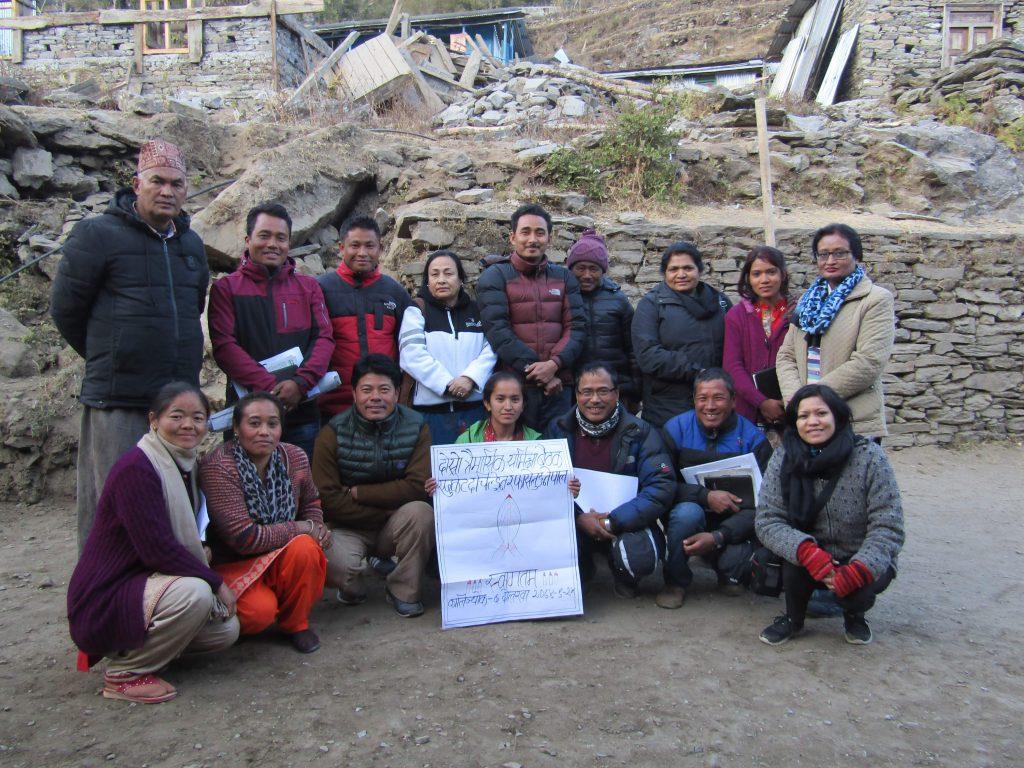 ETC Nepal staff members in 2018