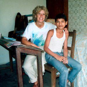 Pamela Carson and son Ram