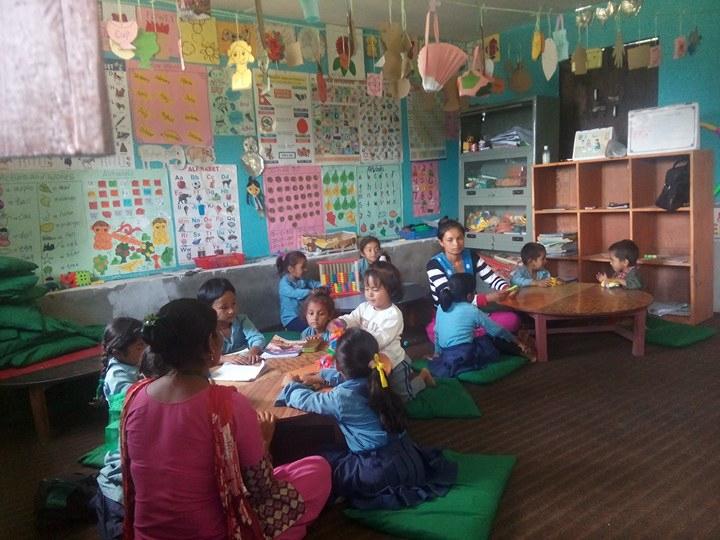Gujarpa School Nepal Educate the Children