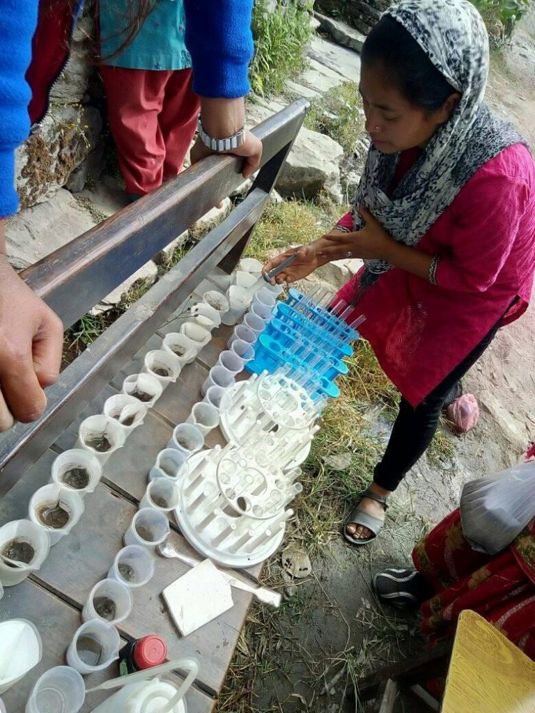 Nepal agricultural training soil camp