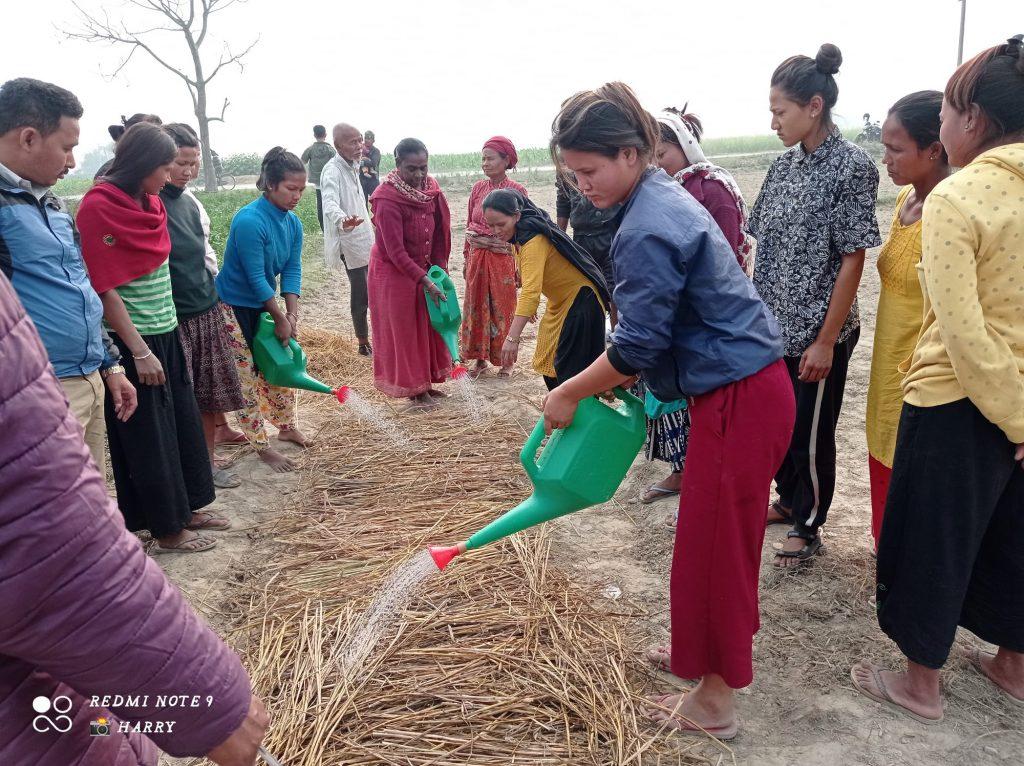 Horticultural training has begun