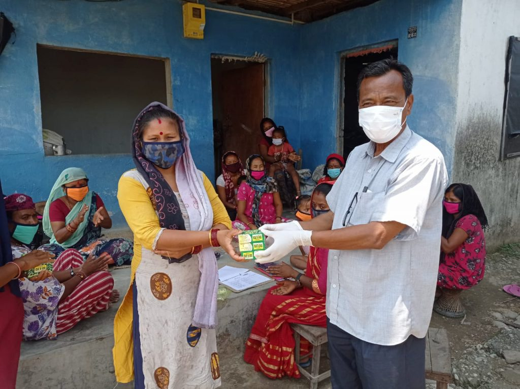 More masks and soap distributed!