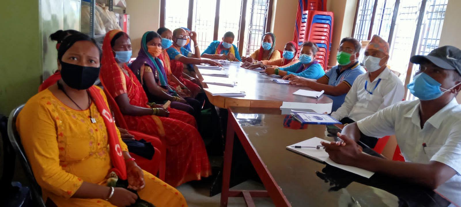 WG members attending ward meeting